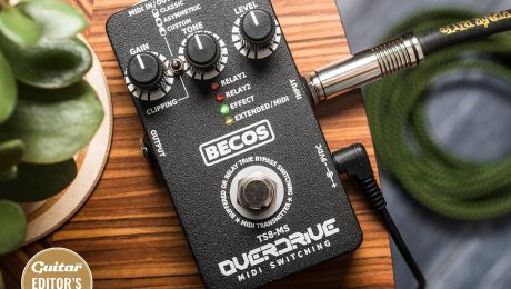 Becos TS8-MS Boutique overdrive flavours meet versatile MIDI switching in a diminutive box