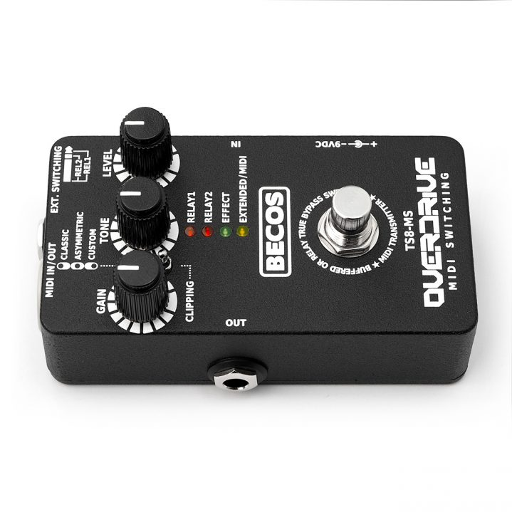 TS8-MS MIDI Overdrive / Switcher Pedal