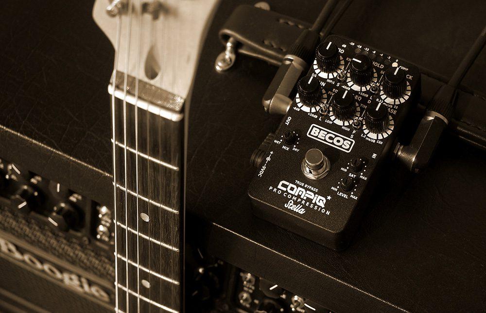 CompIQ PRO Stella Compressor Pedal for Guitar & Bass
