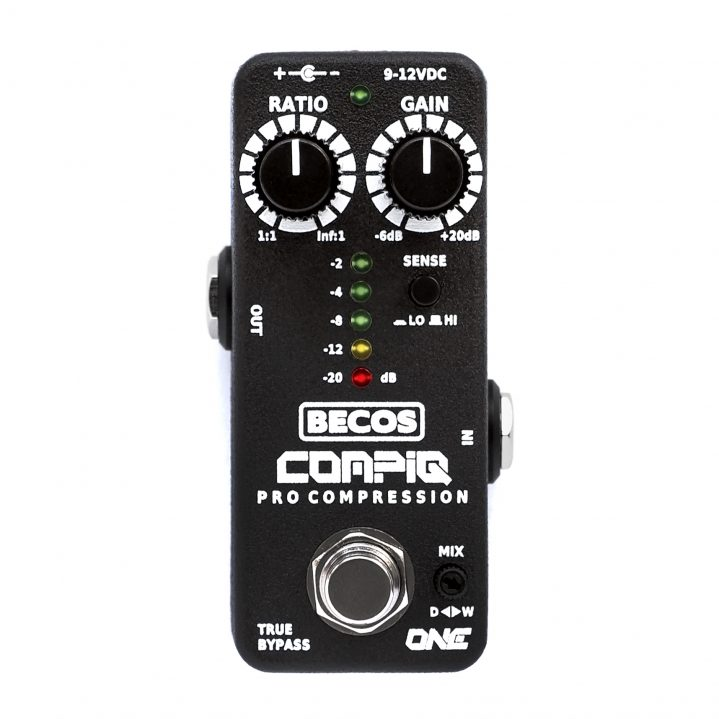 CompIQ MINI One Pro Compressor pedal for guitar & bass