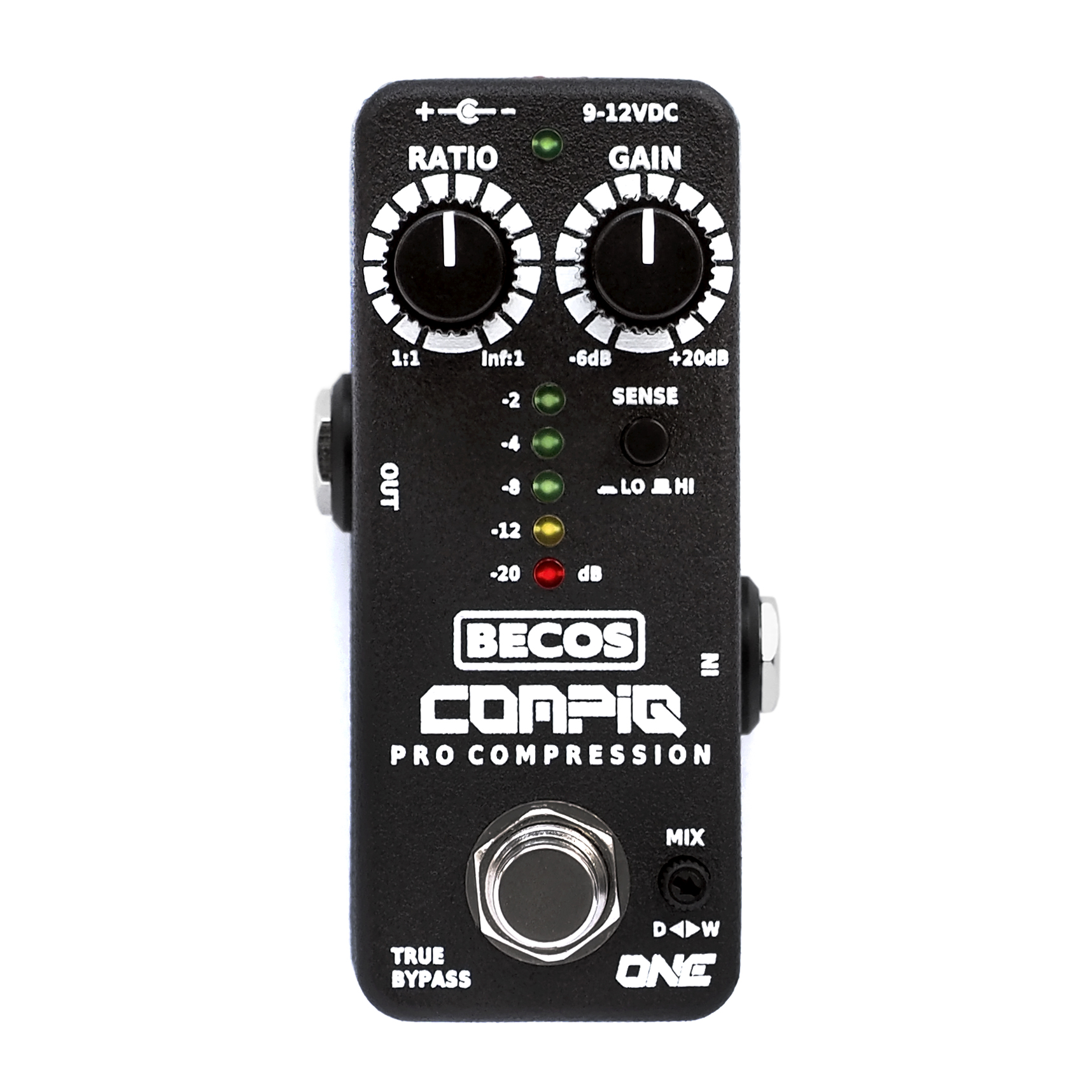 compiq mini one pro compressor pedal for guitar bass becosfx. Black Bedroom Furniture Sets. Home Design Ideas