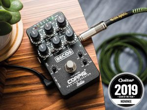 Becos CompIQ Pro Stella Compressor Nominated for The Best Effects Pedal Year 2019 by Guitar Magazine