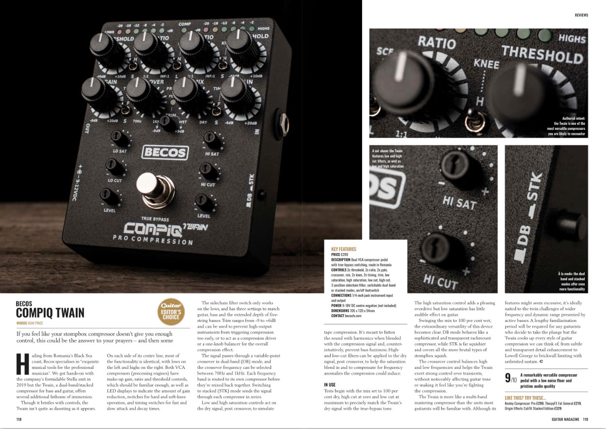CompIQ Twain Review - Guitar Magazine - May 2020 - p118-119