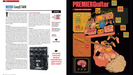 CompIQ Twain Review Guitar Magazine Oct 2020 p120