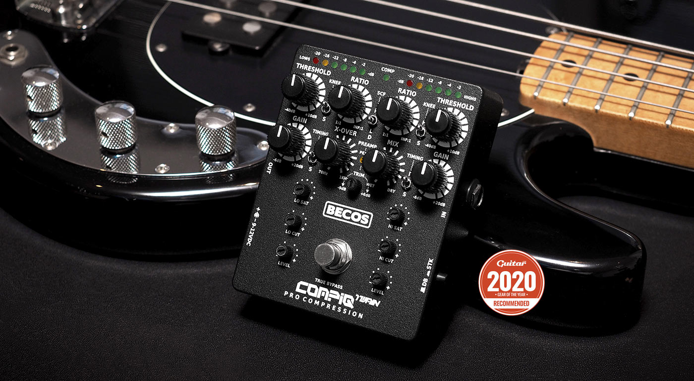 CompIQ TWAIN Dual-Band / Stacked Compressor for Bass and Guitar - Recommended Gear of The Year 2020 - Guitar Magazine