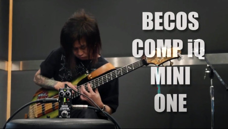 Becos CompIQ Mini One Pro Compressor Demonstrated on Bass by FIRE Japan